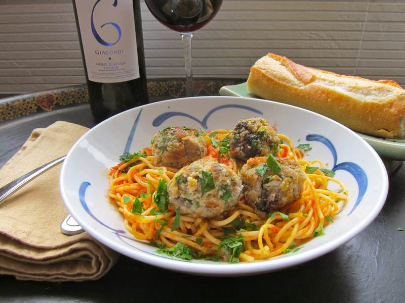 Fresh Tuna Meatballs in Tomato Sauce – Typical Jamie Oliver Goodness