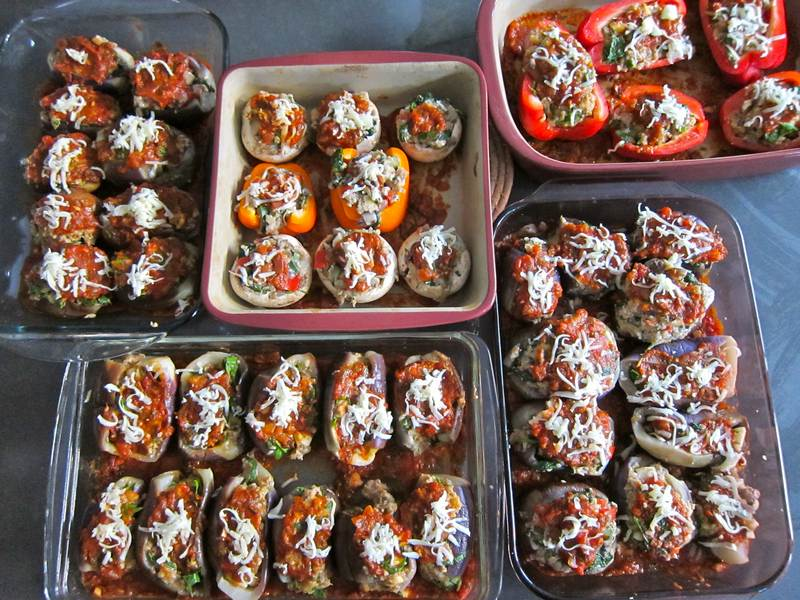 Sicilian Eggplant – Stuffed with Meat or Vegetables