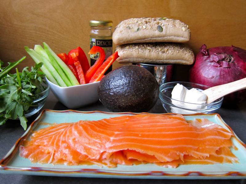 Smoked Salmon Tower of Brunch