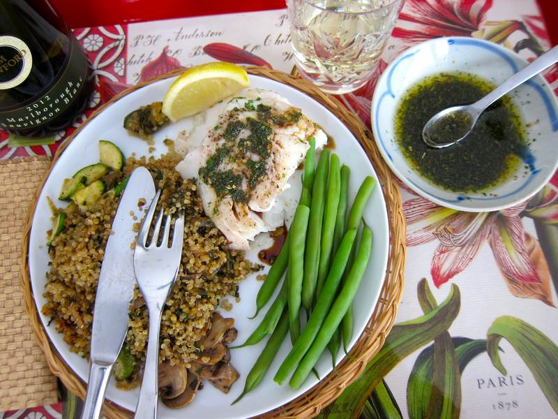 Wild Cod with Chimichurri in a Hurry