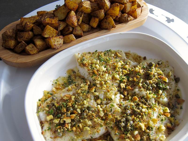 Lemon Brown Butter Fish and Roasted Potato