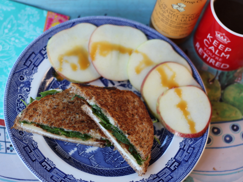 Salted Caramel Apple Grilled Cheese