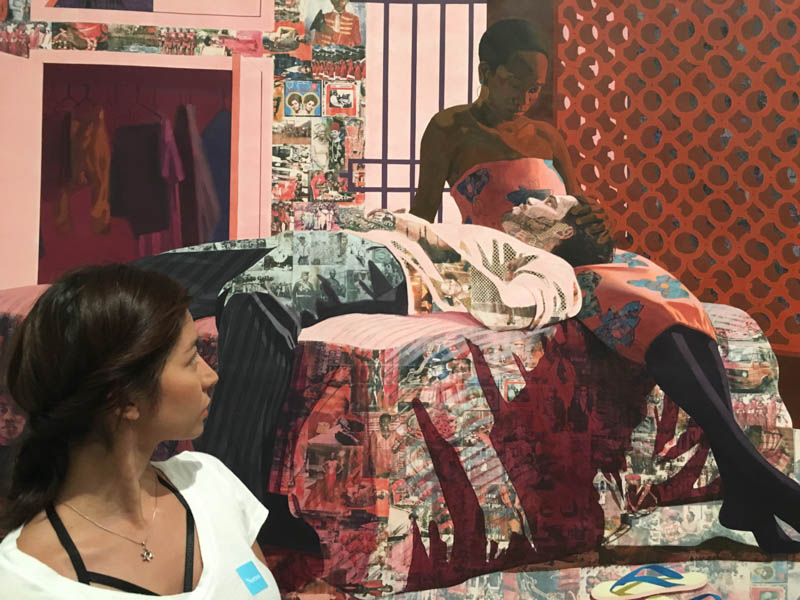 Nigerian artist Njideka Akunyili Crosby's exhibit– I Refuse to be Invisible at the Norton Museum