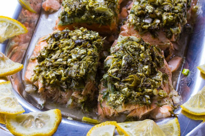 Feta Dill Salmon – Fishing for Compliments