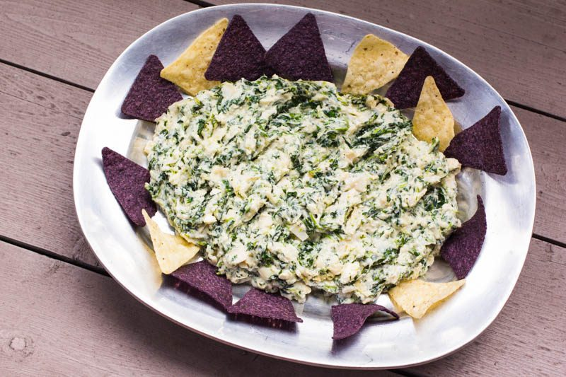 Hearts Of Palm Spinach Nachos