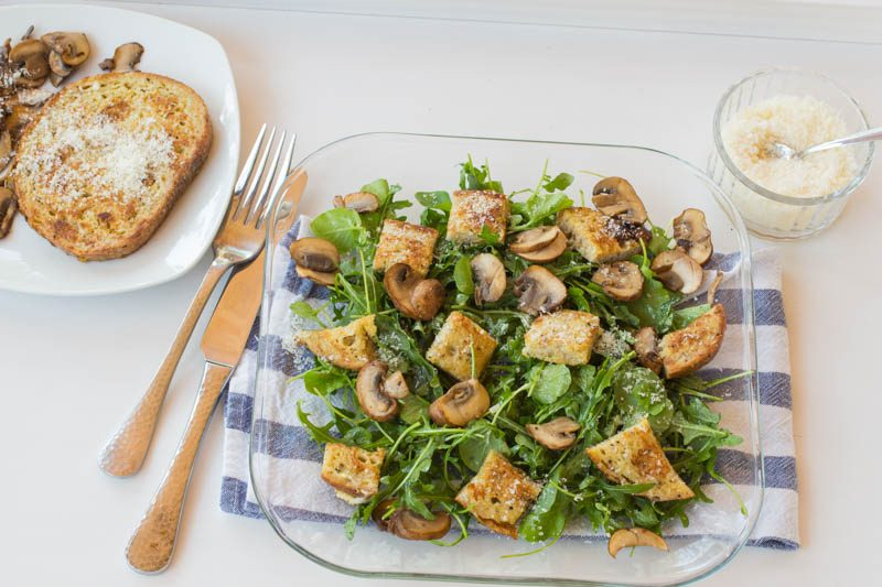 Savoury French Toast Crouton Salad – Seriously?